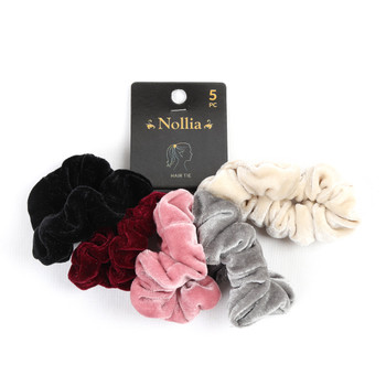 5pc Velvet Hair Scrunchies - 5SHS-SLD1