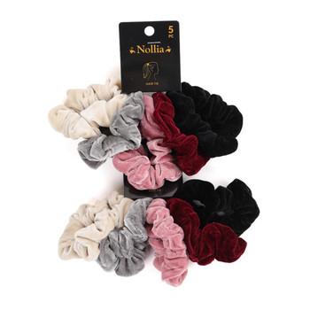 10pc Velvet Solid Color Hair Scrunchies - 5SHS-SLD1