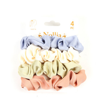4pc Assorted Hair Scrunchies - 4SHS-SLD1