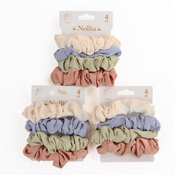 12pc Assorted Hair Scrunchies - 4SHS-SLD1