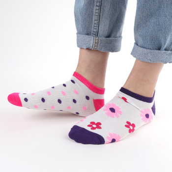 Assorted Pack (6 pairs) Women's Multicolor Flower Low Cut Socks LN6S1623