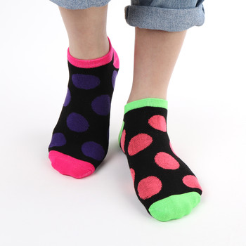 Assorted Pack (6 pairs) Women's Multicolor Polka Dot Low Cut Socks LN6S1625