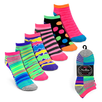 6pairs Women's Multicolor Low Cut Socks LN6S1626