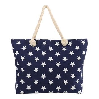 Navy Stars Ladies Tote Bag - LTBG1225-NV