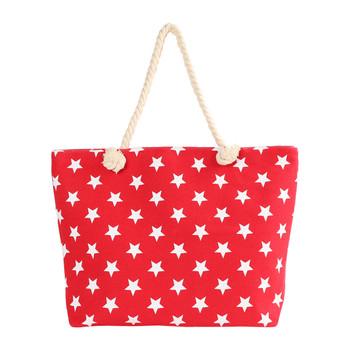 Red Stars Ladies Tote Bag - LTBG1227-RD