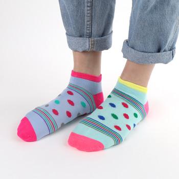 Assorted (6 pairs/pack) Women's Polka Dots Striped Low Cut Socks - LN6S1703