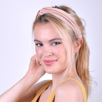 Pink Leopard Print Headband - EHB1011-PK