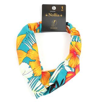 Floral  Criss Cross  Headband - EHB1012