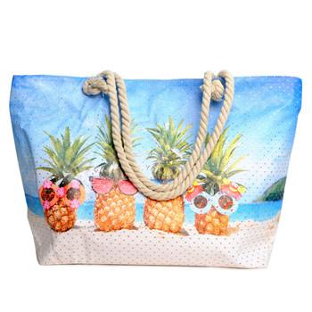 Pineapple Fun Rhinestones Ladies Tote Bag - LTBG1211