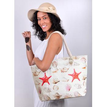 Shells & Starfish Rhinestones Ladies Tote Bag - LTBG1212