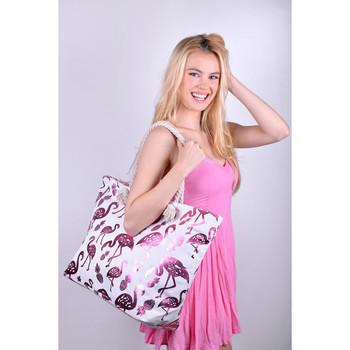 Pink Metallic Flamingo & Pineapple Ladies Tote Bag - LTBG1204