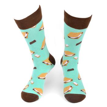 Men's S'mores Novelty Socks - NVS19552-TQ