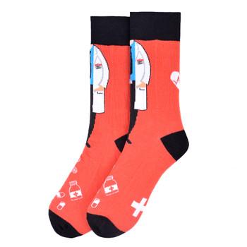 Men's Doctor Novelty Socks - NVS19578-OR