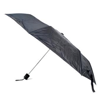 Black Telescopic Umbrella with Plastic Handle - UM5003