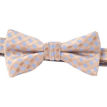 Boy's Khaki Clip-on Suspender & Dots Bow Tie Set (4-7 years Old)-BSBS47-KHAKI2