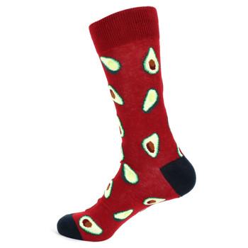 Men's Avocado Novelty Socks - NVS19542-BURG