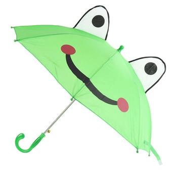 Kid's Green Frog Umbrella - UK18014-GRN