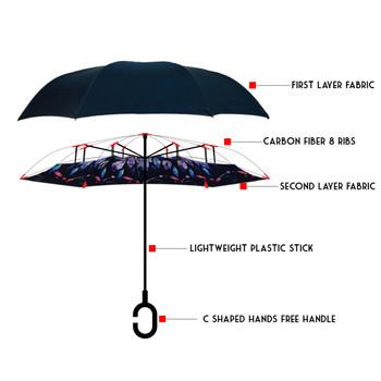 Feather Double Layer Inverted Umbrella - IUM18061