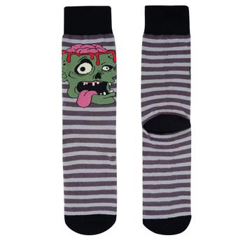 Men's Zombie Halloween Novelty Socks - NVS19515-GRY