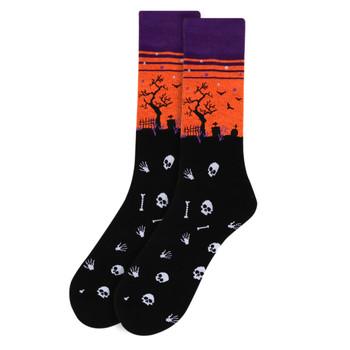 Men's Halloween Novelty Socks - NVS19517-BK