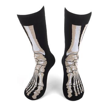 Men's Feet Bones Novelty Socks - NVS19599-BK