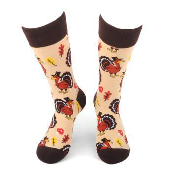 Men's Thanksgiving Turkey Novelty Socks - NVS19560-TN