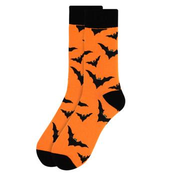 Men's Halloween Bat Novelty Crew Socks-NVS2000