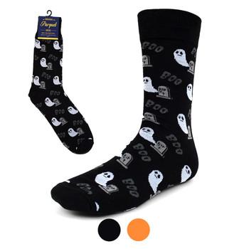 Men's Halloween Ghost Novelty Crew Socks-NVS2003