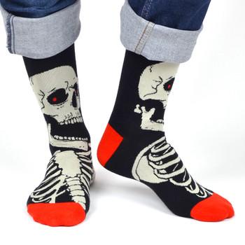 Men's Skeleton Novelty Socks - NVS19513-BK