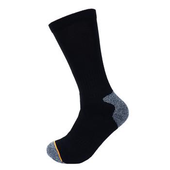 3-Pack Men's Black Heavy Duty Crew Socks- 3PK-WKS01-BK