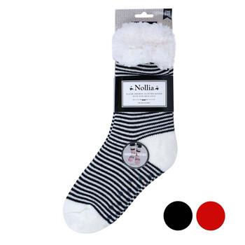 Women's Stripe Fleece Lining  Sherpa Socks - WFLS1025