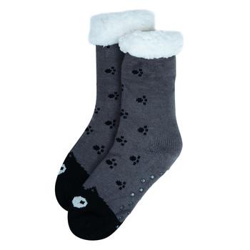 Women's Cat Plush Fleece Lined Sherpa Slipper Socks -WFLS-A1001