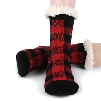 Women's Plush Fleece Lined Sherpa Slipper Socks - WFLS1020