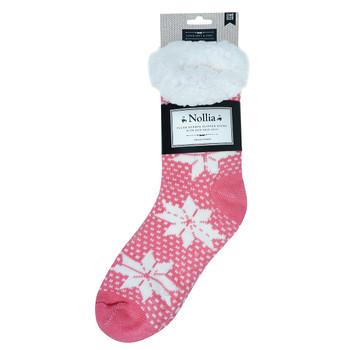 Women's Plush Sherpa Winter Fleece Lining Snowflakes Slipper Socks - WFLS1005