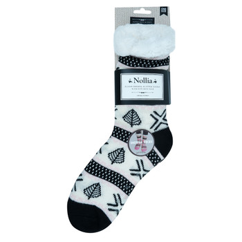 Women's Plush Sherpa Winter Fleece Lining  Slipper Socks - WFLS1008
