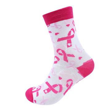 Women's Breast Cancer Ribbon Novelty Socks- LNVS19613-PK