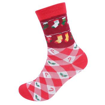Women's Christmas Novelty Socks- LNVS19614-RD