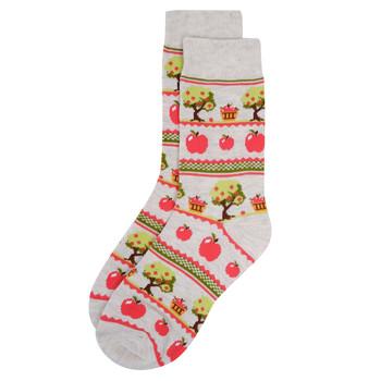 Women's Apple Picking Novelty Socks-LNVS19617-BEI