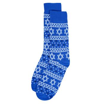Men's Hanukkah Novelty Socks- NVS19613-BL
