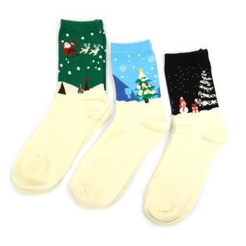 3 Pairs Pack Ladies Christmas Holidays Crew Socks - 3PK-LXMS2