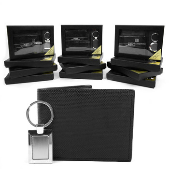 12pc Assorted Pack Wallet & Keychain Sets WK1000-BLACK