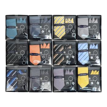 12pc Pack Assorted Tie, Hanky, Cufflink & Keychain Set TCK12