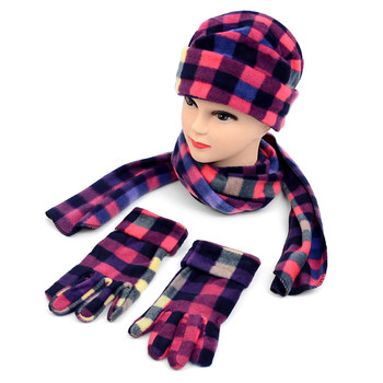 6pc Pack Women's Fleece Plaid Winter Set WSET8010