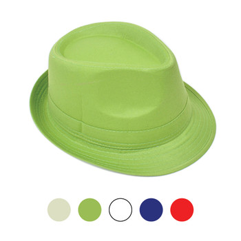 Spring/Summer Trilby Fedora Solid Hat H0618