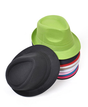 6pc Fedora Solid Hat H0618