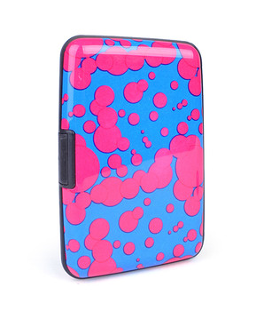 12pc Pack Card Guard Aluminum Compact Card Holder - Pink Spot
