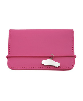12pc Ladies' Name Card Case with Pink Car Charm NCC056