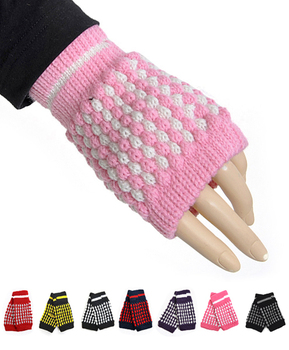 12pair Pack Women's Knit Fingerless Gloves GL1302