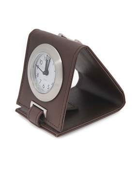 Travel-Time Leather Easel Alarm Clock CLOCK022