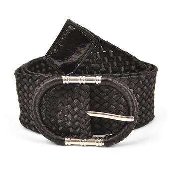 12pc Ladies Braided Woven Belt HW4610
